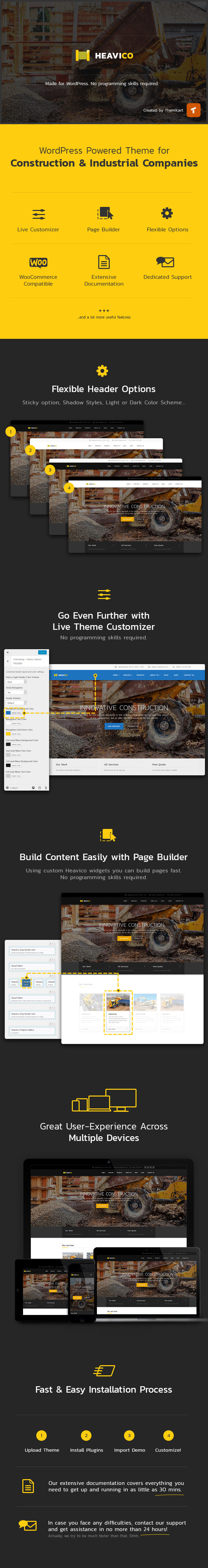 Heavico - Construction, Building & Industrial WordPress Theme