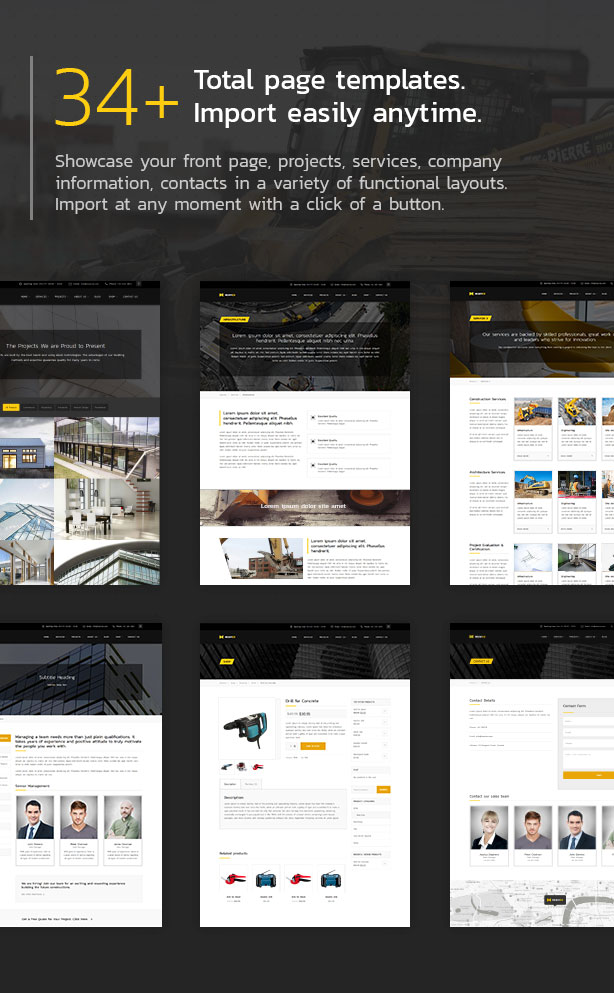 34+ total page templates.